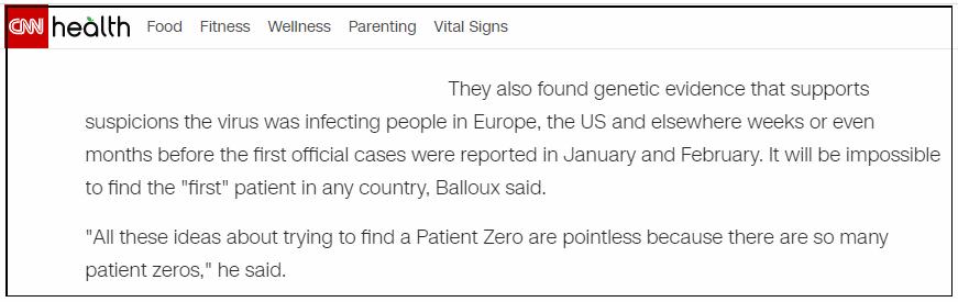 CNN:坏消息,新冠病毒去年底已开始在全球传播